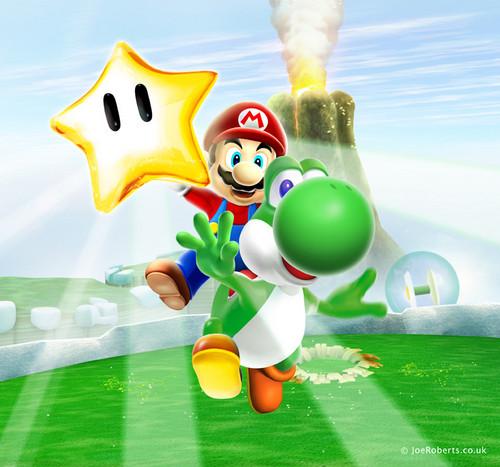 Yoshi and Mario - SMG2