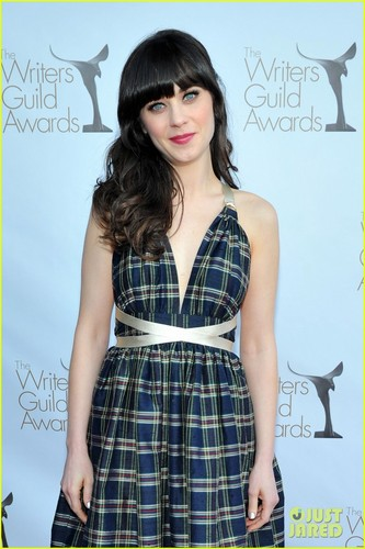 Zooey Deschanel: Writer&#39;s Guild Awards with Joel McHale! - zooey-deschanel Photo