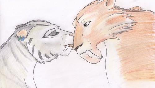 diego x shira kissing