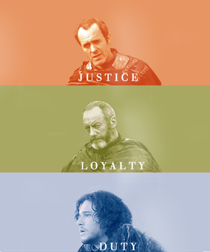 Justice • Loyalty • Duty