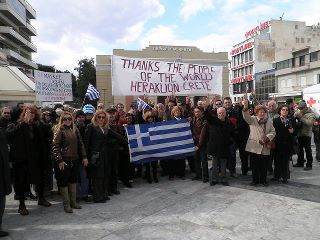 greeks thank Europians for their support.