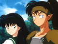 kagome and koga - koga-and-kagome screencap