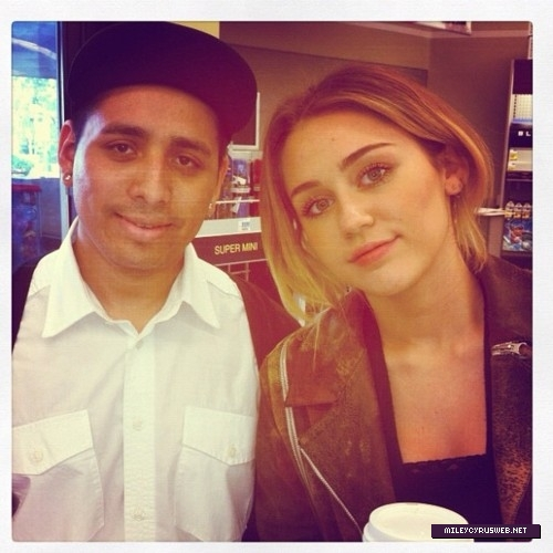 new miley with fans ( 2012)