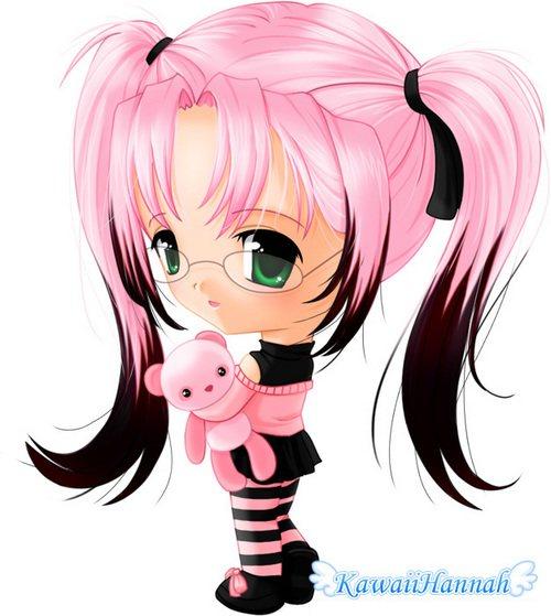 pink chibi