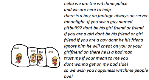 pitbull warning!!! (on witchme) we are your police