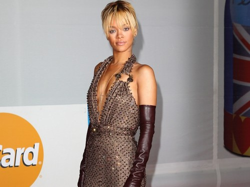 Rihanna wallpaper possibly with a cocktail dress entitled rihanna brits