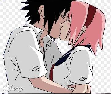 sakura and sasuke Kiss