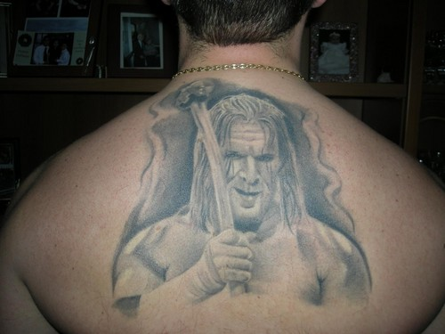 triple h tattoo