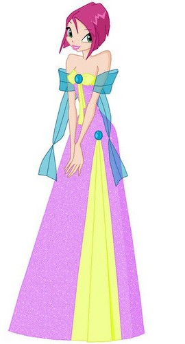 Winx Tecna wallpaper probably with a kirtle and a polonaise entitled ♥Tecna♥