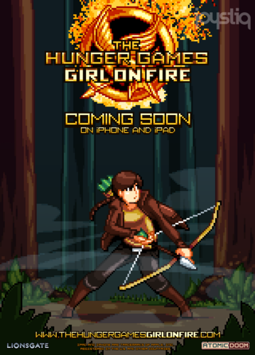 'The Hunger Games: Girl on Fire' iOS Game Pixel Poster