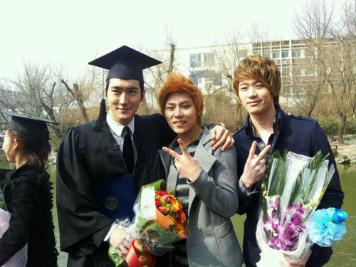 120224 Siwon and Wookie graduated from Inha University