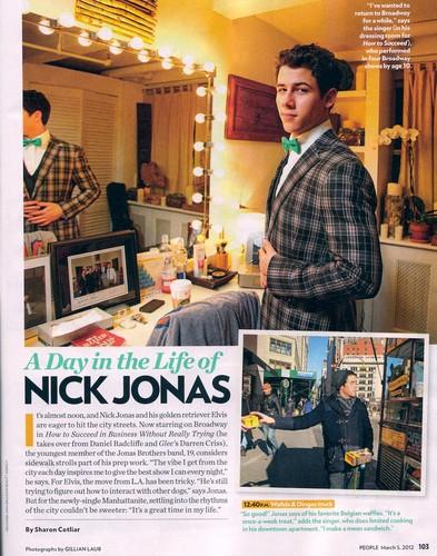 2012 Nick Jonas Magazine
