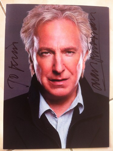 Alan signed for me this, really !! This is not fake !