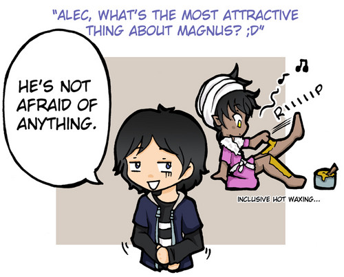 Alec & Magnus 壁紙 containing アニメ entitled Alec and Magnus