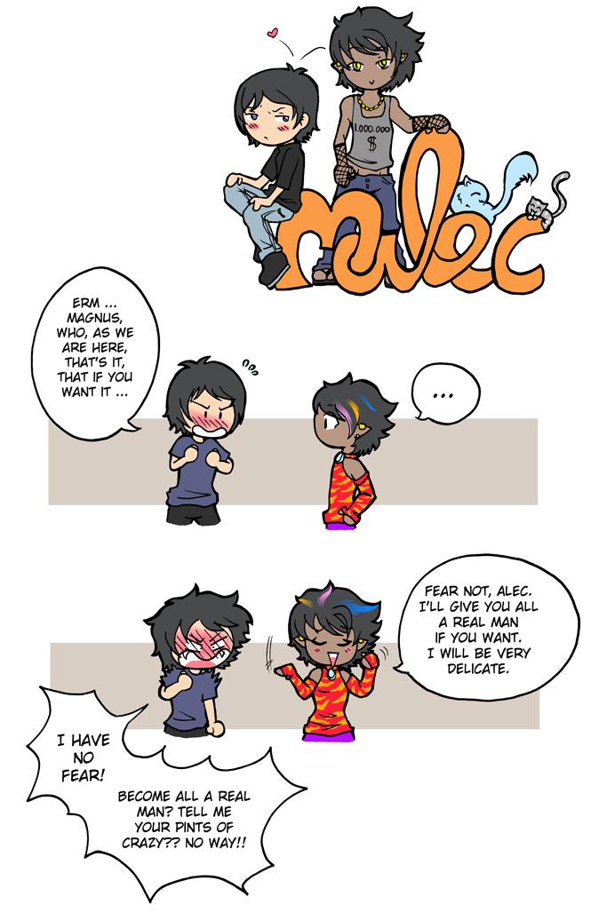 Alec and Magnus
