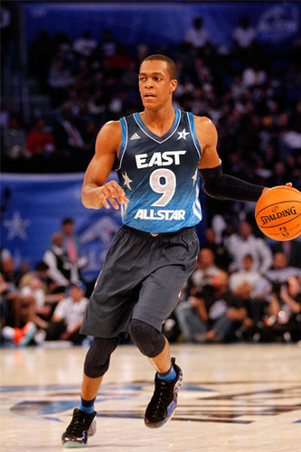 Rajon Rondo پیپر وال probably with a باسکٹ, باسکٹ بال player, a dribbler, and a باسکٹ, باسکٹ بال entitled All-star