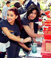 Avan and Ariana at 'The Big Help Restoration Project'