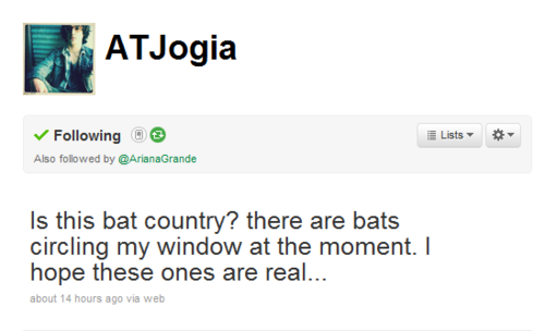 Avan's Tweet ; BAT - avan-jogia-and-ariana-grande Fan Art