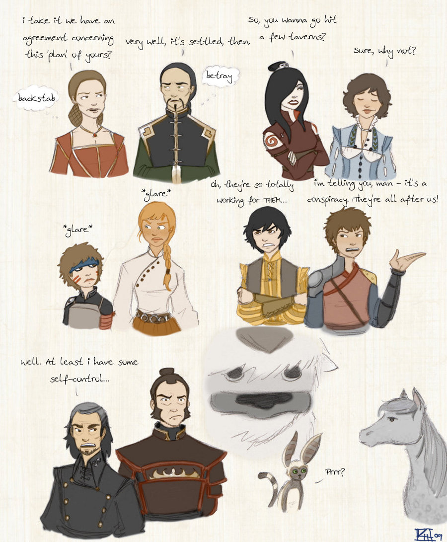 Avatar Both Korra And The Last Airbender As Wheel Of