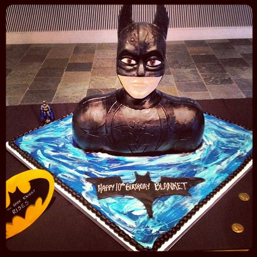 Blanket Jackson's 10th Birthday cake 2012
