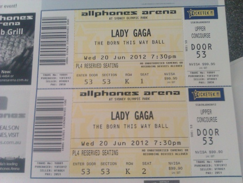 Born This Way Ball Tour tickets