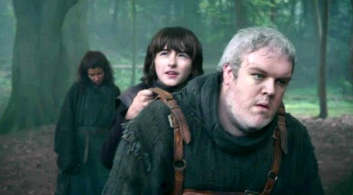 Bran with Hodor and Osha
