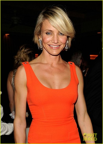 Cameron Diaz karatasi la kupamba ukuta possibly containing a bustier called Cameron Diaz - Vanity Fair Oscar Party