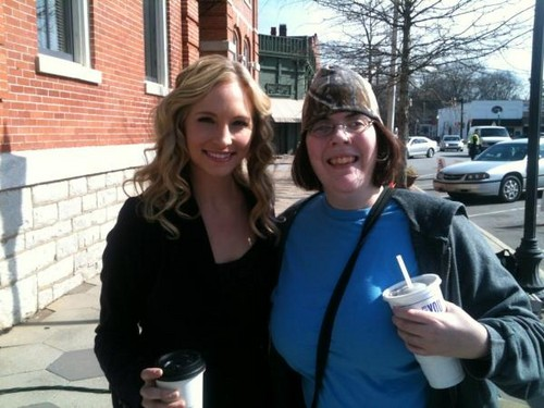Candice BTS of TVD 3x18. [Fan pic]
