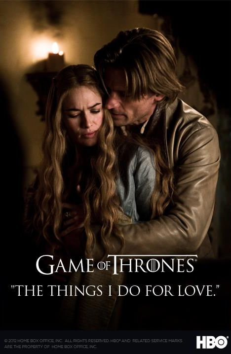 Cersei Baratheon and Jaime Lannister poster