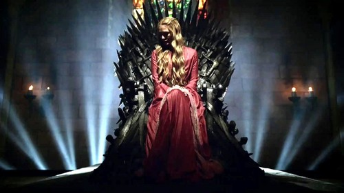House Lannister wallpaper titled Cersei Baratheon on Iron Throne