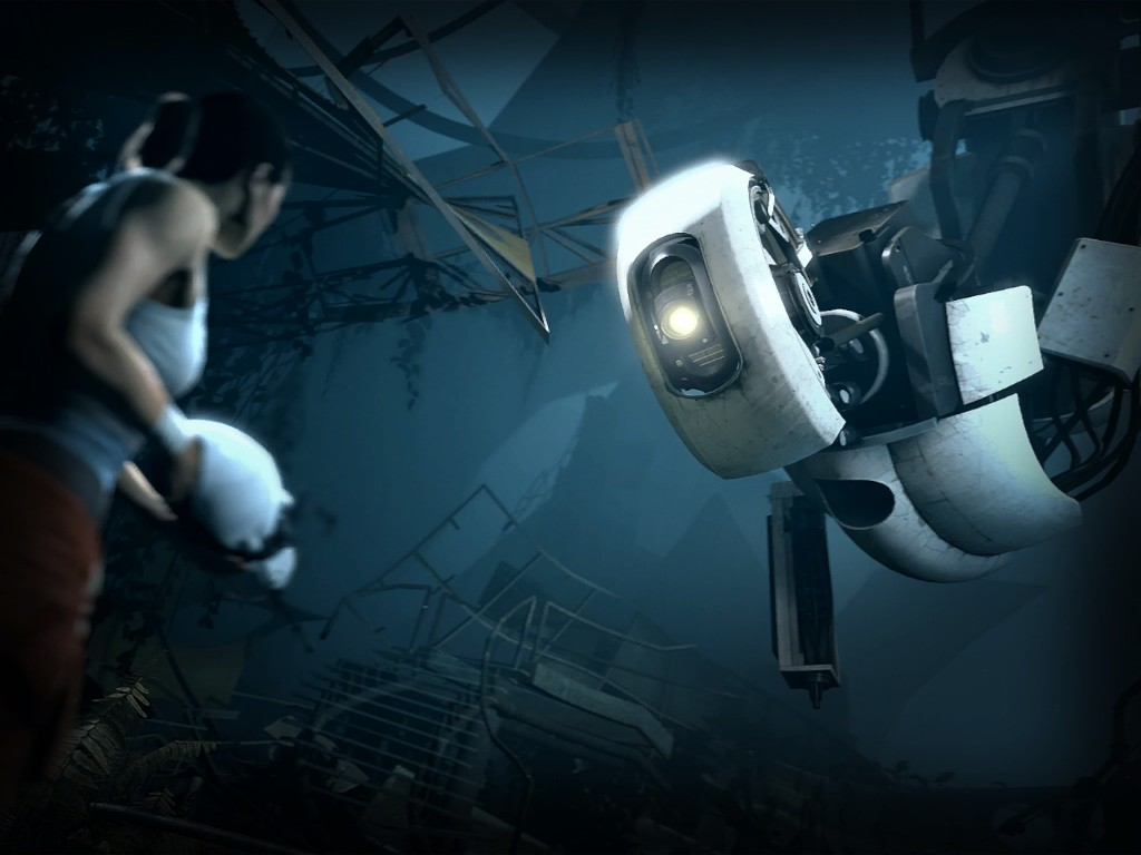 Portal 2 Images Chell GLaDOS HD Wallpaper And Background Photos