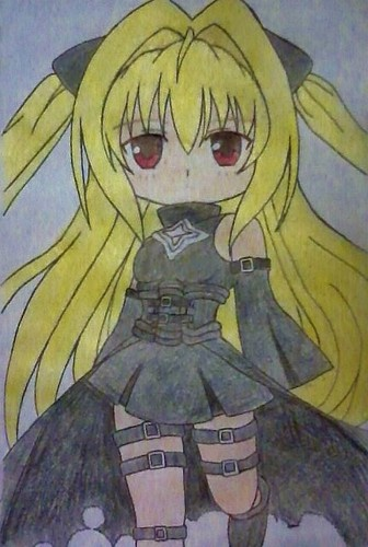 Anime Drawing Hintergrund probably with Anime entitled Chibi Yami-chan