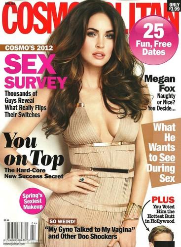 Megan Fox wallpaper with a portrait entitled Cosmopolitan - April Issue