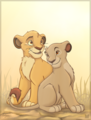 Cub Mufasa and Sarabi