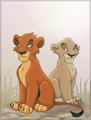 Cub Taka(Scar) and Zira - the-lion-king-cubs fan art