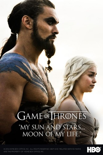 Daenerys and Drogo poster