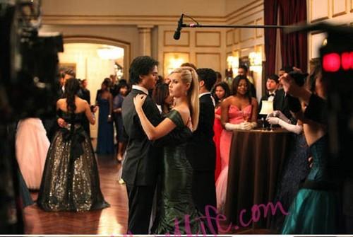 Damon and Rebekah 3x14,behind the scenes