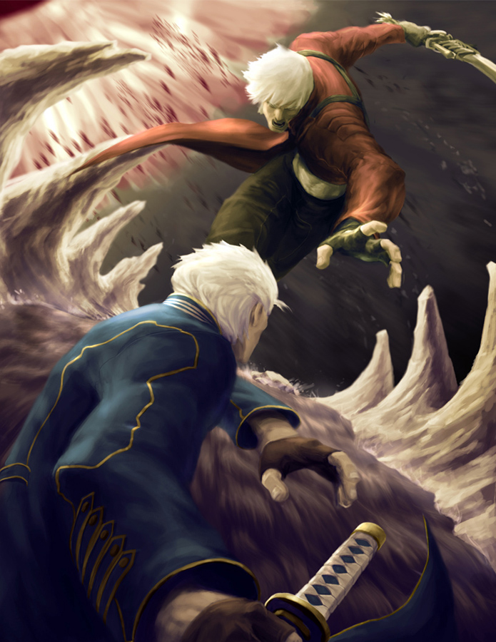 Dante Vs Vergil Devil May Cry 3 Fan Art 29328849 Fanpop