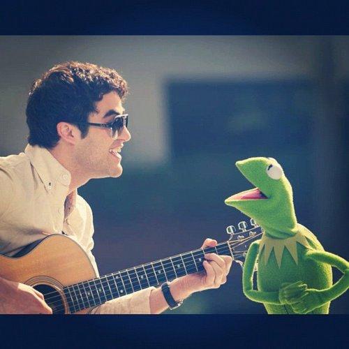 Darren performs with Kermit the Frog