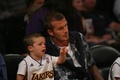 David Beckham and his son Cruz