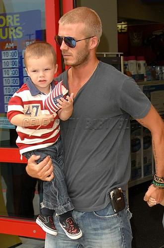 David Beckham and his son Cruz