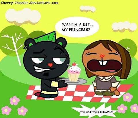 Duncan and Courtney (Happy Tree Friends Style)