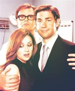 Dwight, Jim and Pam