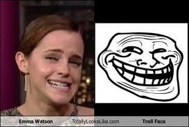Emma Watson's Troll Face