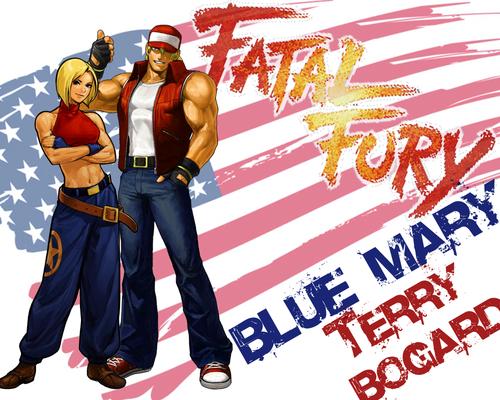 FatalFuryBlueMaryTerryBogardWall