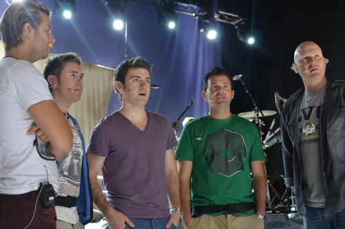 Final soundcheck on Australia 2012 Tour