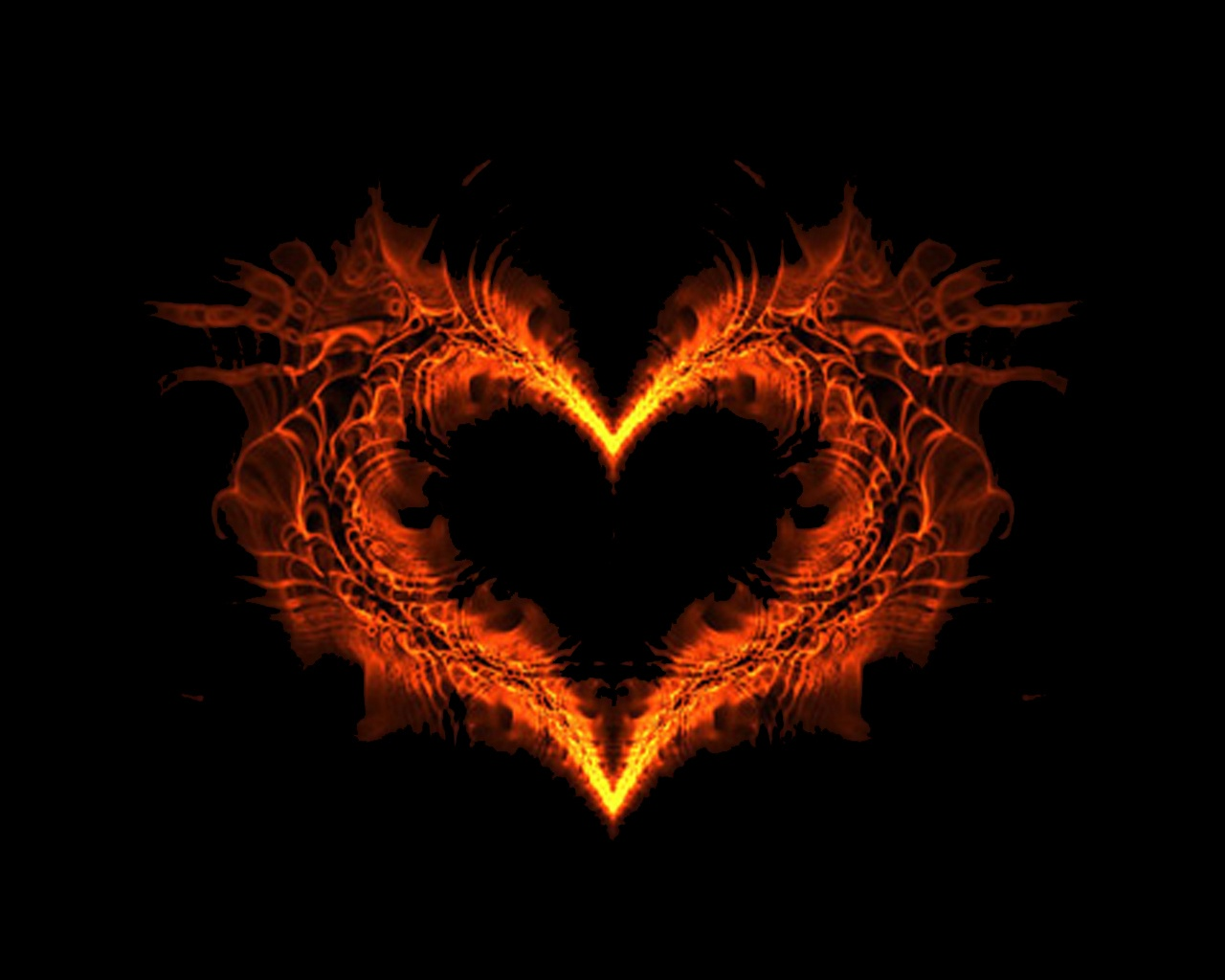 fire heart wallpaper