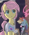 Fluttershy & arco iris Dash