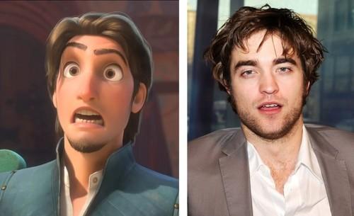 Flynn Ryder and Robert Pattinson