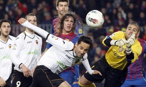 Gerard Piqué: FC Barcelona (5) v Valencia CF (1) - La Liga